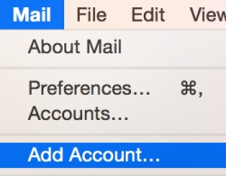 تنظیم Apple Mail 3.0