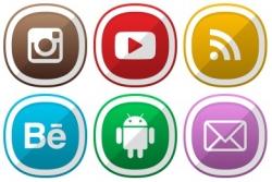 تاثیر آیکون شبکه های اجتماعی در طراحی